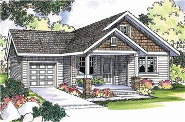 3-Bedroom, 1426 Sq Ft Cottage Home - Plan #108-1296 - Main Exterior