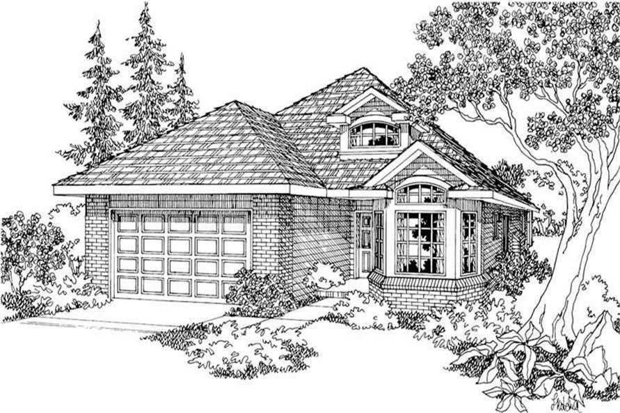 Home Plan Rendering