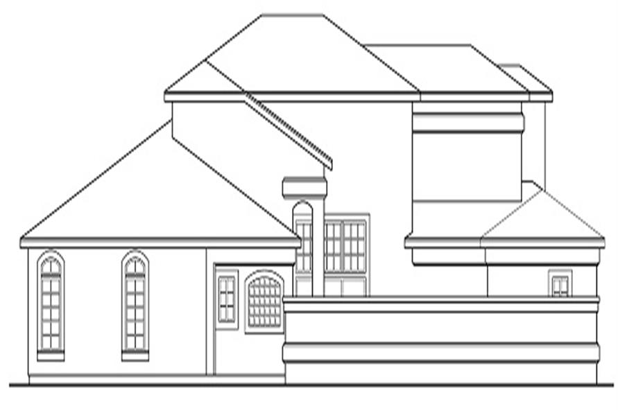 108-1328: Home Plan Left Elevation