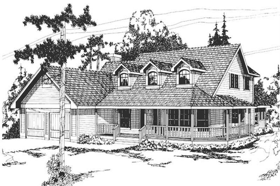 Main image for house plan # 2854