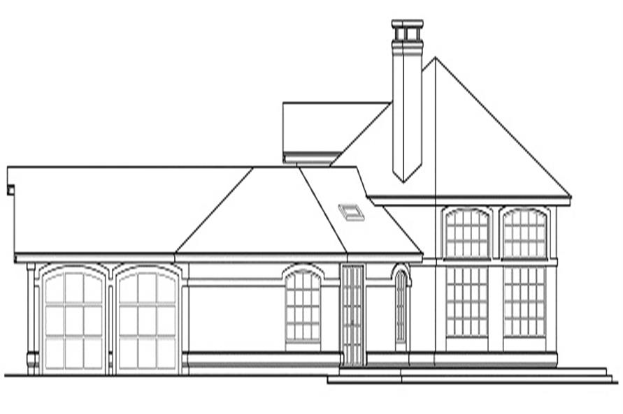 108-1350 house plan right elevation