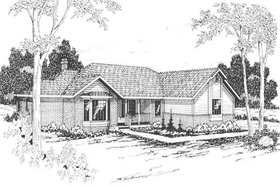 Main image for house plan # 3086