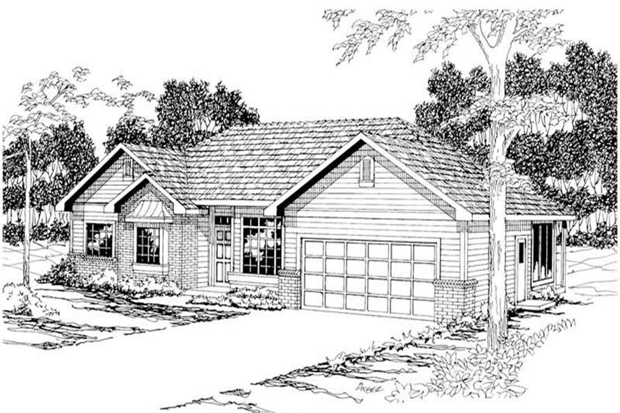Main image for house plan # 3079