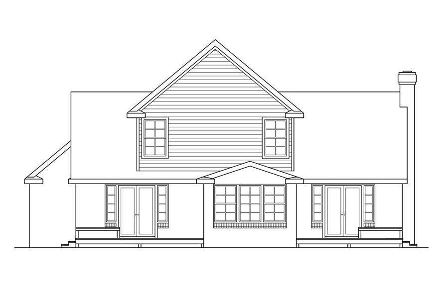 108-1411: Home Plan Rear Elevation
