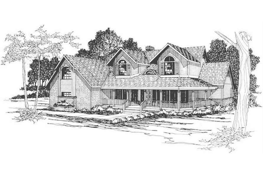 108-1450: Home Plan Rendering
