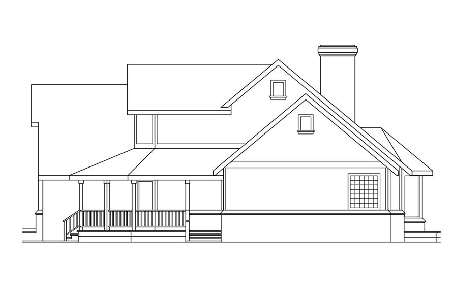 108-1450: Home Plan Right Elevation