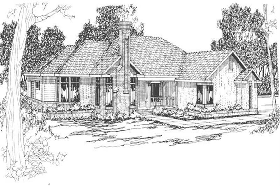 Main image for house plan # 3100