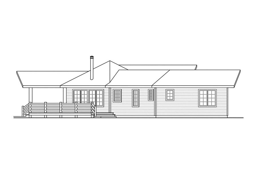 108-1494: Home Plan Left Elevation