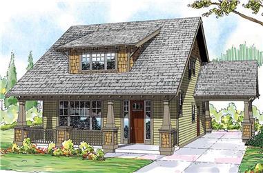 3-Bedroom, 2026 Sq Ft Craftsman House Plan - 108-1530 - Front Exterior