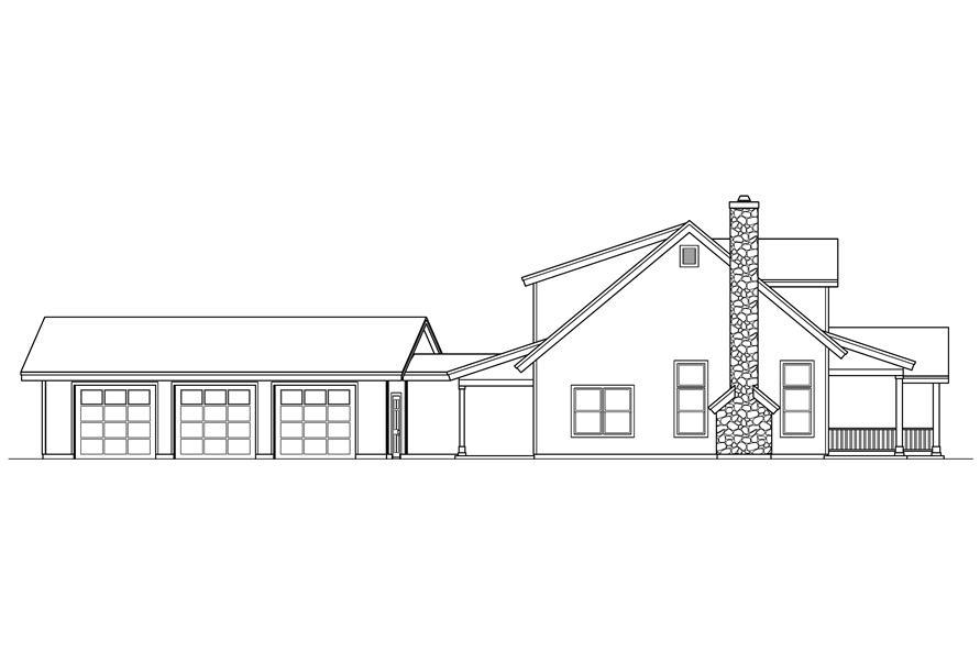 108-1546: Home Plan Left Elevation