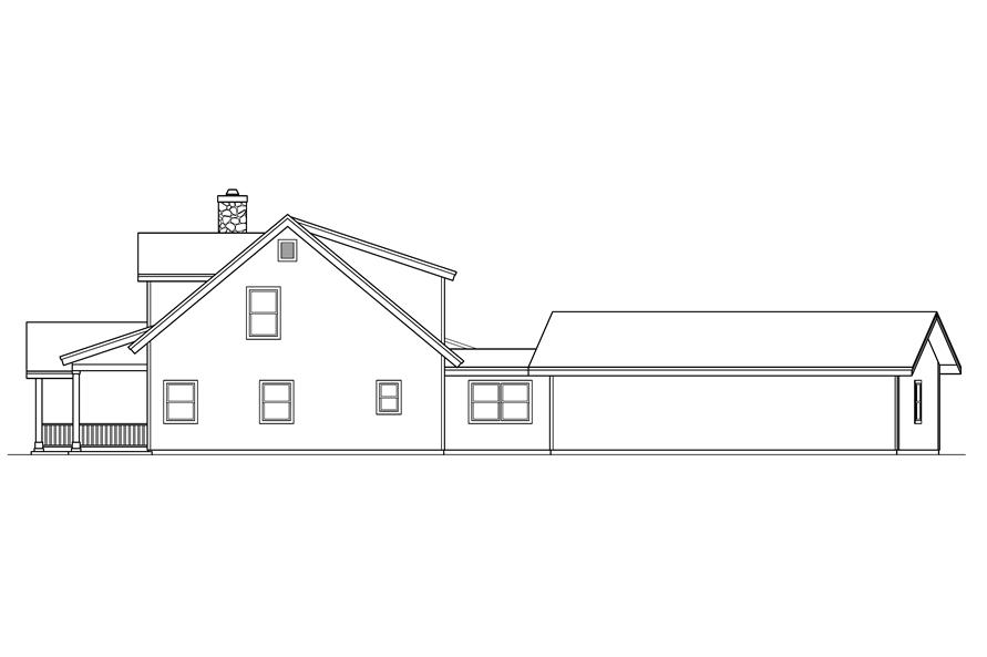 108-1546: Home Plan Right Elevation