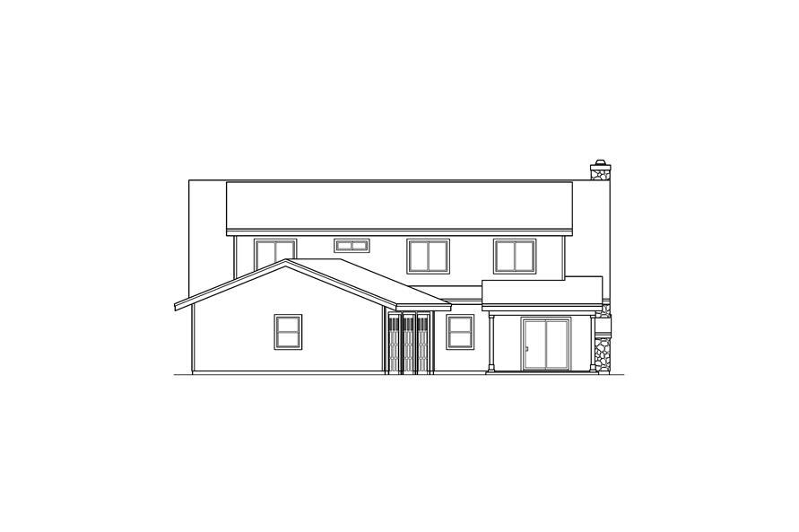 108-1546: Home Plan Rear Elevation
