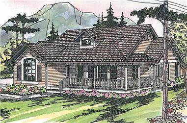3-Bedroom, 1901 Sq Ft Farmhouse Home - Plan #108-1565 - Main Exterior