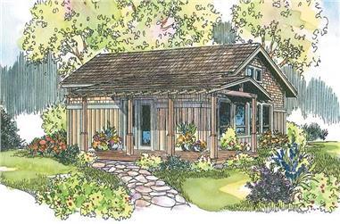 1-Bedroom, 960 Sq Ft Coastal Home - Plan #108-1592 - Main Exterior