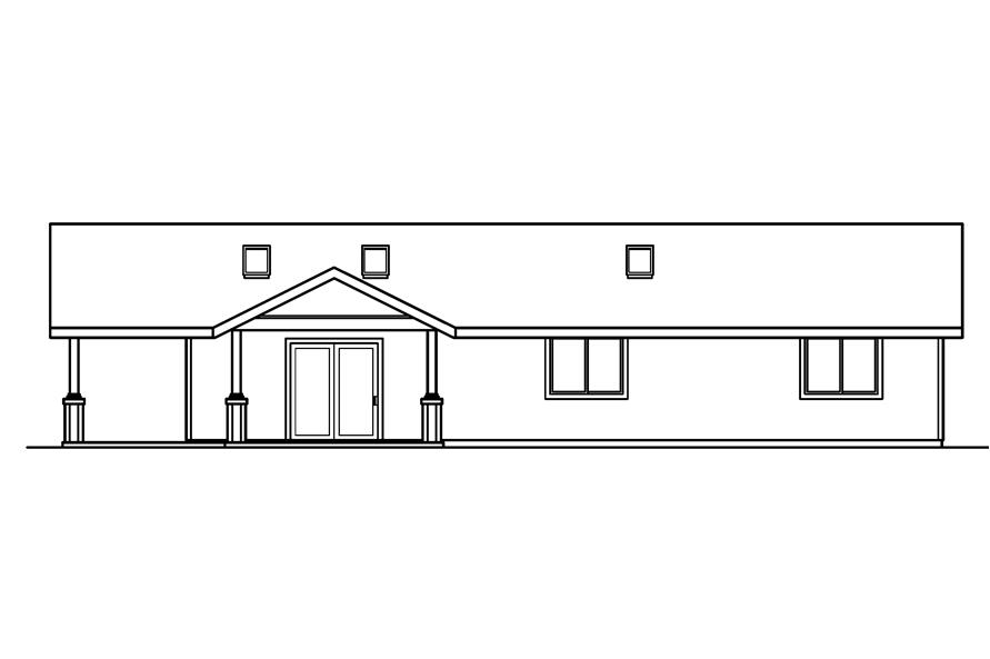 108-1612: Home Plan Right Elevation