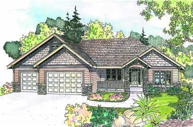 4-Bedroom, 2396 Sq Ft Ranch Home Plan - 108-1623 - Main Exterior