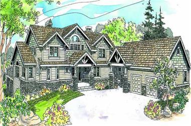 3-Bedroom, 3641 Sq Ft Ranch Home Plan - 108-1637 - Main Exterior