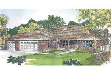 3-Bedroom, 2130 Sq Ft Ranch Home - Plan #108-1658 - Main Exterior