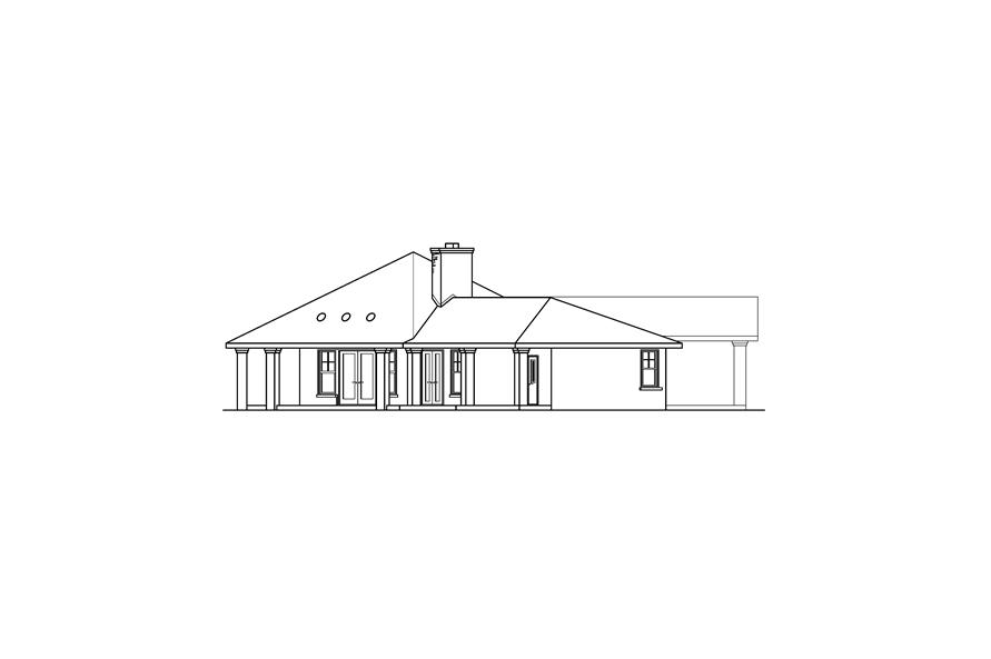 108-1672: Home Plan Left Elevation