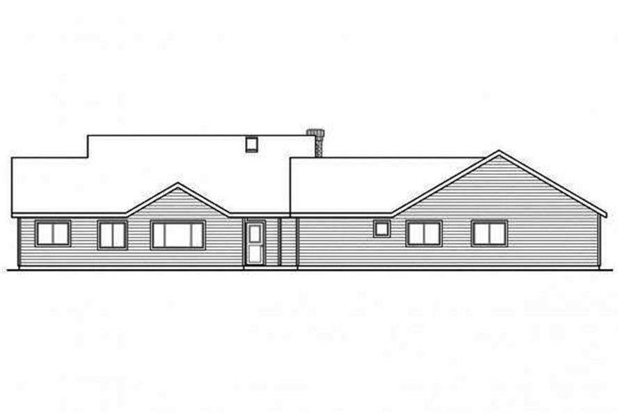108-1692: Home Plan Rear Elevation