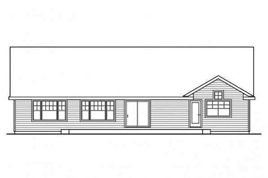 108-1695: Home Plan Rear Elevation