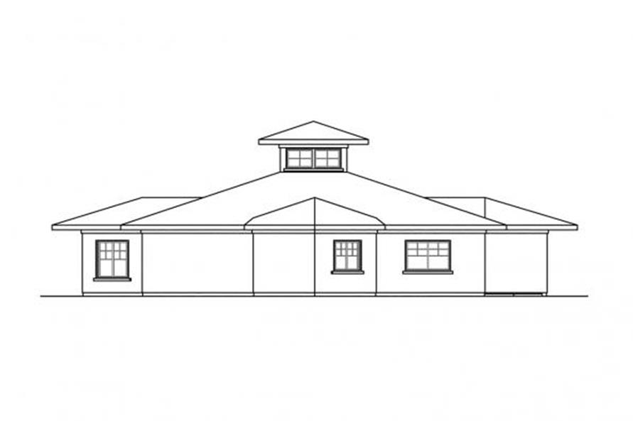 108-1704: Home Plan Rear Elevation