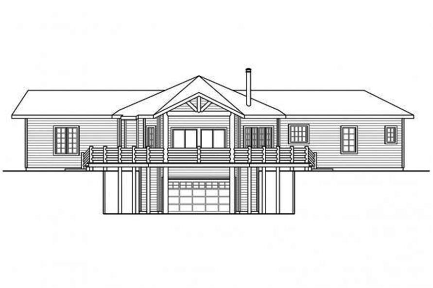 108-1706: Home Plan Rear Elevation