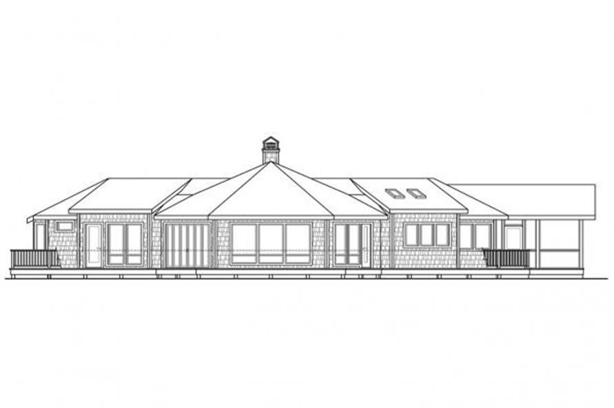 108-1707: Home Plan Rear Elevation