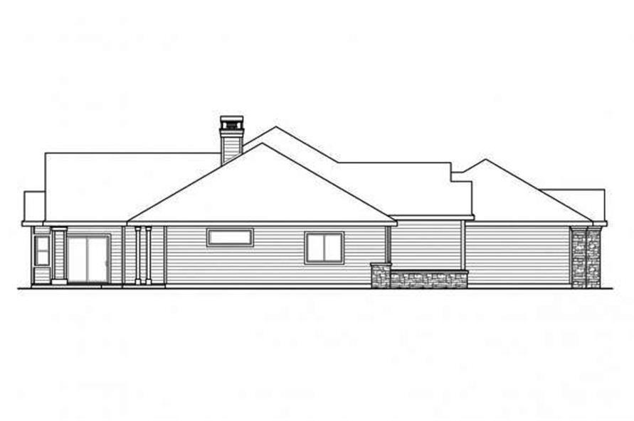 108-1710: Home Plan Left Elevation
