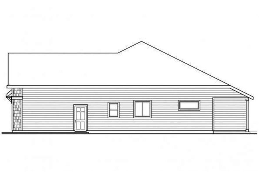 108-1715: Home Plan Right Elevation