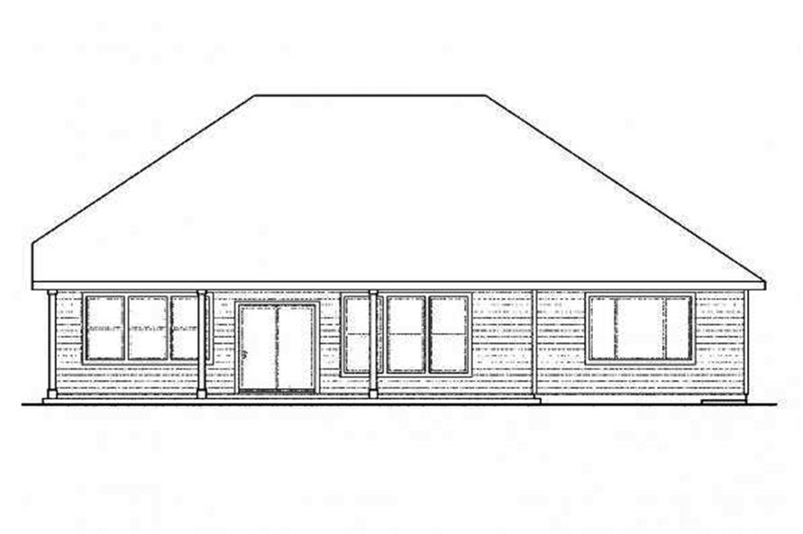 108-1715: Home Plan Rear Elevation