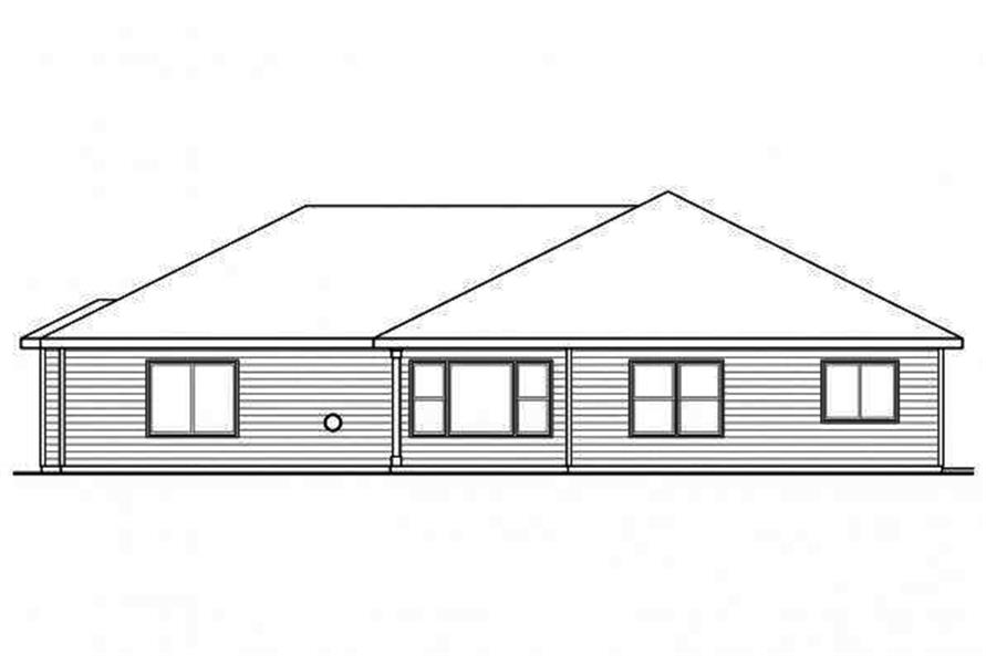 108-1718: Home Plan Rear Elevation