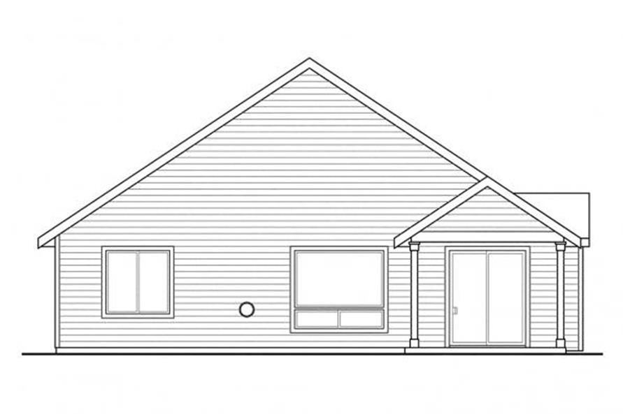 108-1719: Home Plan Rear Elevation