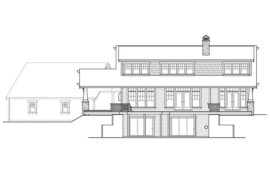 108-1721: Home Plan Rear Elevation