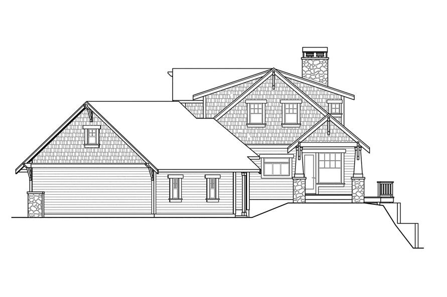 108-1721: Home Plan Right Elevation