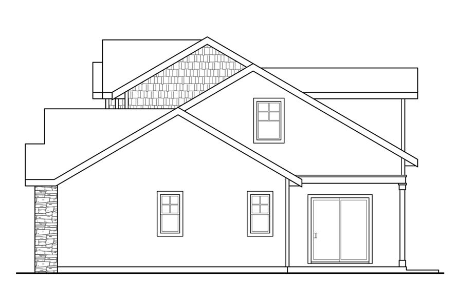 108-1742: Home Plan Right Elevation