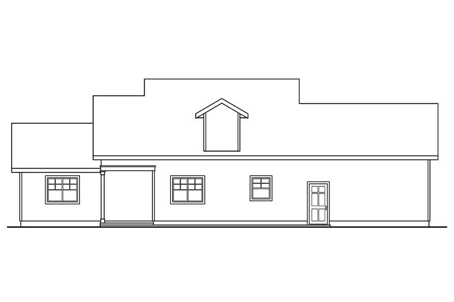 108-1742: Home Plan Rear Elevation