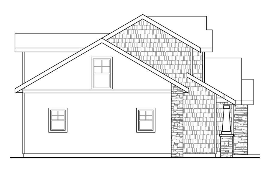 108-1742: Home Plan Left Elevation