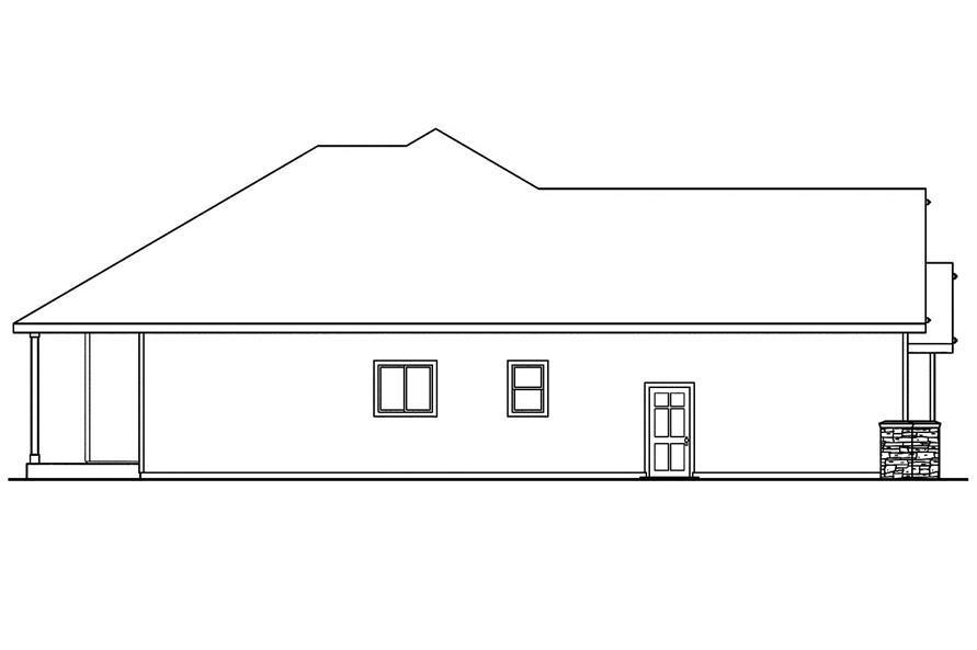 108-1743: Home Plan Left Elevation