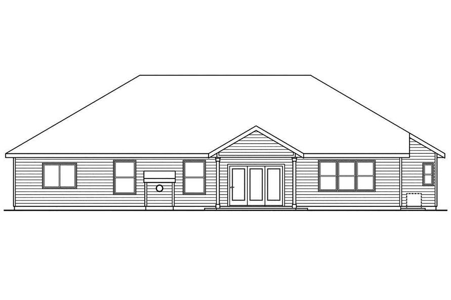108-1745: Home Plan Rear Elevation