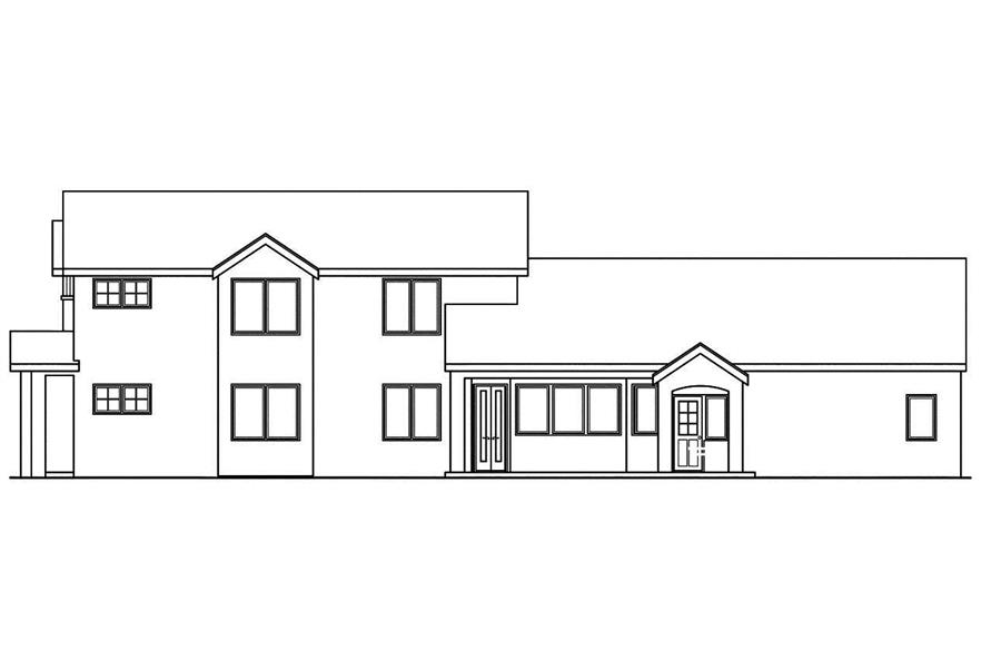 108-1747: Home Plan Right Elevation