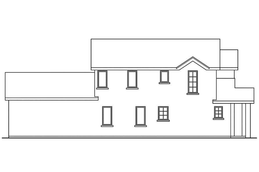 108-1749: Home Plan Left Elevation
