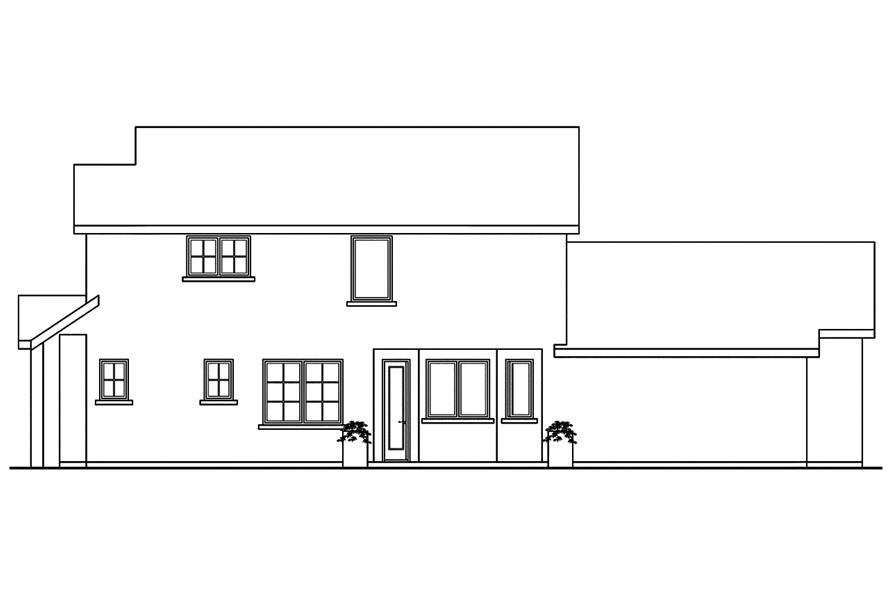 108-1749: Home Plan Right Elevation