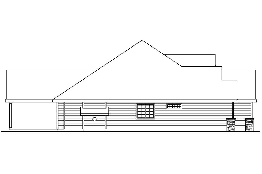 108-1751: Home Plan Left Elevation