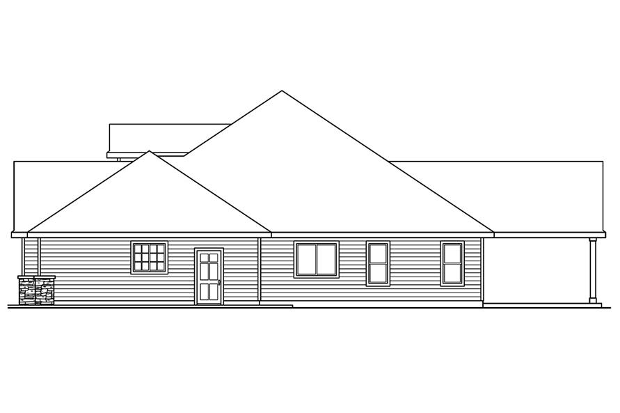 108-1751: Home Plan Right Elevation