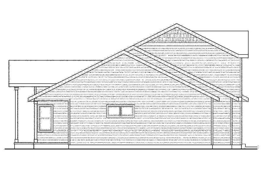 108-1752: Home Plan Left Elevation