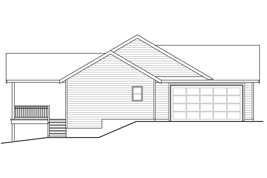 108-1753: Home Plan Left Elevation