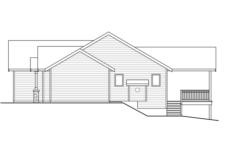 108-1753: Home Plan Right Elevation