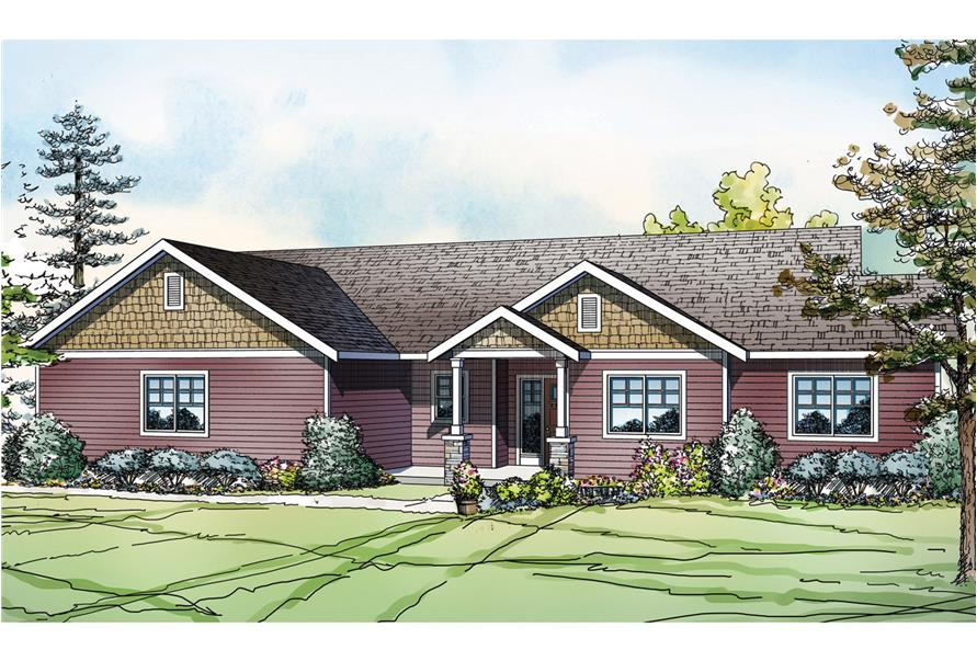 Front elevation of Country home (ThePlanCollection: House Plan #108-1753)