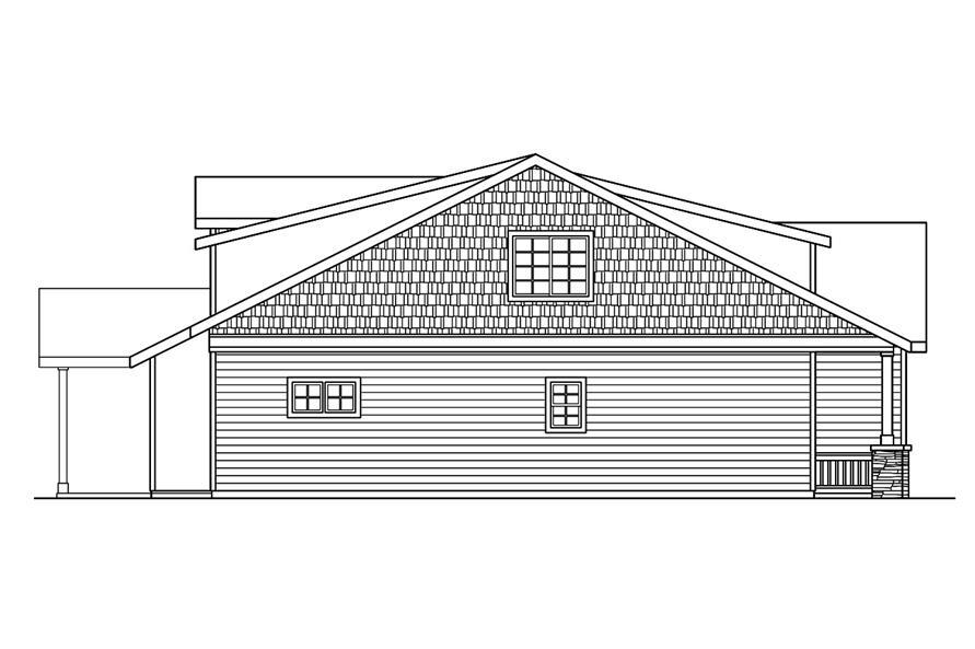 108-1756: Home Plan Left Elevation